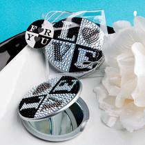 Sparkling Rhinestone Love Design Mirror Compacts