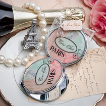 Pretty Paris Themed Mirror Compact Favour