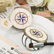 Vintage Metal Bronze Compass Design Mirror From White Dream