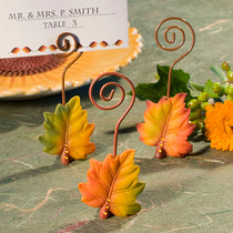 Leaf Design Place Card Holders