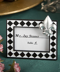 Splendid Fleur De Lis Design Place Card Photo Frame Favours