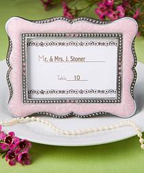 Victorian Design Frame, Place Card Holders Pink