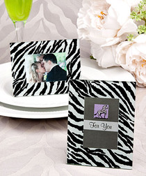 Zebra Pattern Place Card Holder Picture Frame Favours