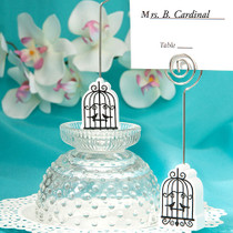 Elegant Birdcage Design Place Card Holders