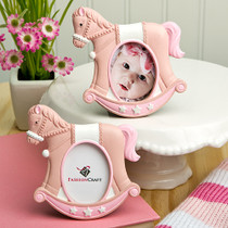 Pink Rocking Horse Place Card Photo Frames
