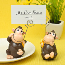 Hand Painted Ceramic Mon Key Place Card Photo Holders