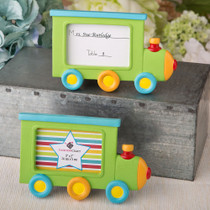 Little Locomotive Engine Photo Frame, Place Card Holder From White Dream