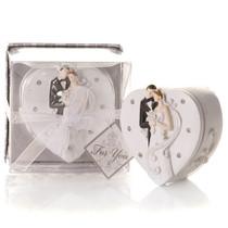 Elegant Bride And Groom Trinket Box