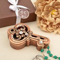 Vintage Copper Colour Key Trinket Box
