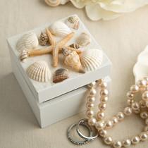 Sea Shell Themed Trinket Box With Natural Shells