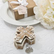 Vintage Design Cross Trinket And Jewellery Box