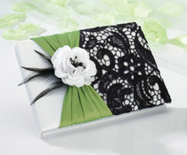 Green And Black Guest Book