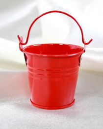 "2"" Galvanised Pail With Handle Red"