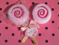 Sweet Treats Collection Pink Lollipop Towel Favour.