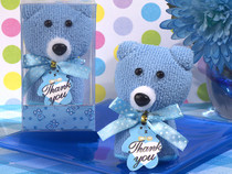 Cute And Cuddly Blue Teddy Bear Towel Favour