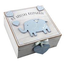 Petit Cheri' MDF My Special Keepsake Box 16cm x 16cm Blue
