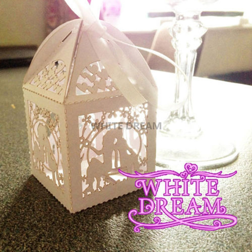 Pack of 10 - Luxury Wedding Favour Boxes + Ribbon Ties - 5 Designs