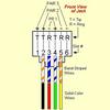 RJ11 Telephone Line Cord Flat Silver Satin