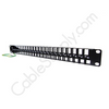 48 Port Unpopulated keystone Panel Face Panel Shielded with Grounding Wire 1U