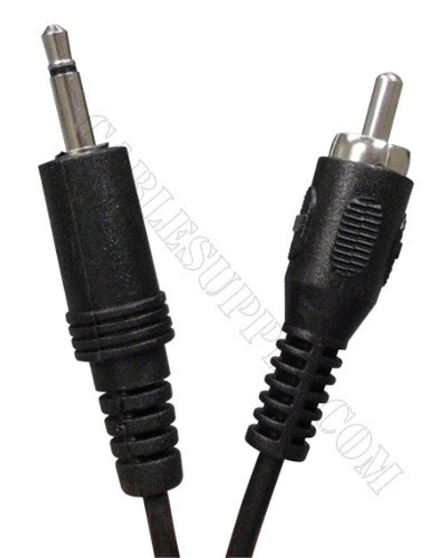 Music-on-Hold 3.5mm Mono Plug to RCA Cord, 6Ft. Audio Molded