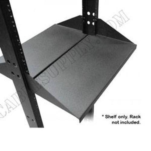 Centered Relay Rack Shelf Set Deep HD Double Sided Shelves 19in 2pc   4U by DAMAC