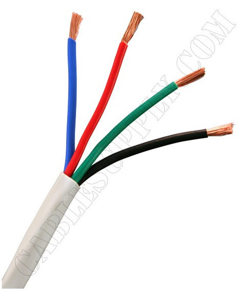 speaker cable white 500 feet 14 gauge 2 conductor
