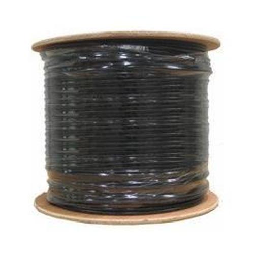 Cat6 Outdoor Direct Burial Gel-Filled Bulk Cable 1000ft Black (Spool)