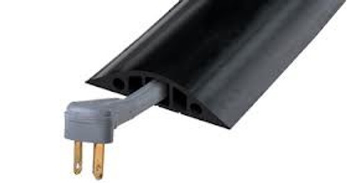 Heavy Duty 3-Channel Rubber Cable Protector (Commercial Grade)