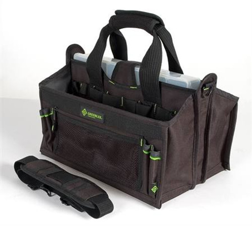 15 Pocket Tool Carrier with Parts Bin by Greenlee