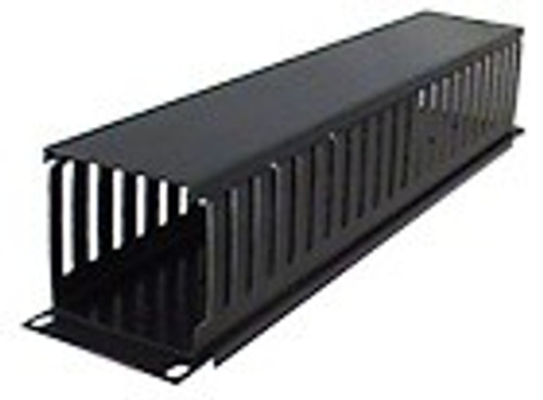 Horizontal Cable Manager 1U or 2U Single-Sided Slotted Duct (Professional Grade)