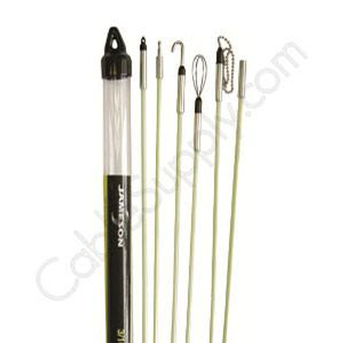 "Deluxe Fishing  Kit 3/16"" x 30' (Six 3/16"" X 5' Fishing Rods) Jameson 7S-65K 30ft Fish Kit"