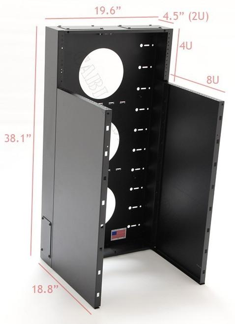 8U + 4U Vertical MiniRaQ Convertible - Tall by Black Hawk Labs