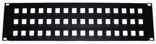 3U 48 Port Unpopulated Keystone Panel Face Plate