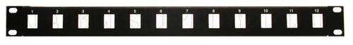 1U 12 and 16 ports Unpopulated Keystone Panel Face Plate