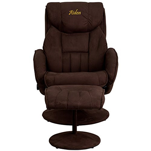 Personalized Brown Recliner BT-7895-MIC-PINPOINT-TXTEMB-GG