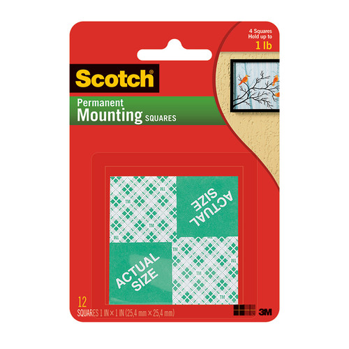 3m Company MMM111 Mounting Squares 1 Inch 16 1in Squares Per Pk