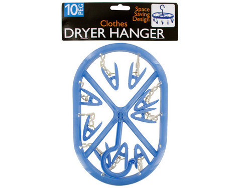 10-Clip Clothes Dryer Hanger