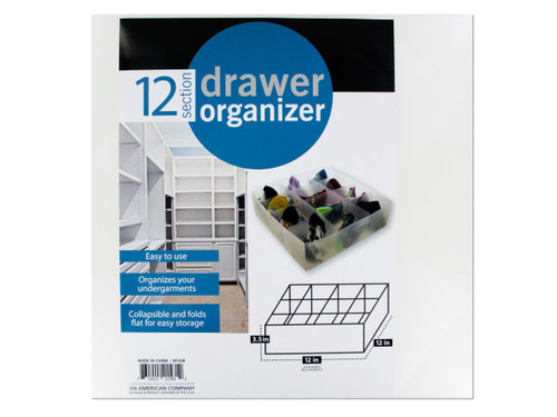 12 Section Drawer Organizer