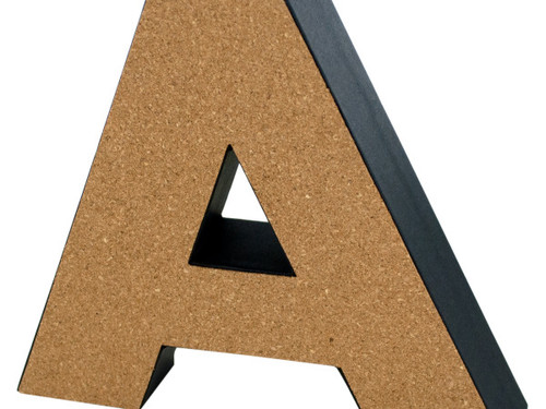 'A' Decorative Cork Board Letter