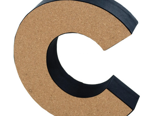 'C' Decorative Cork Board Letter