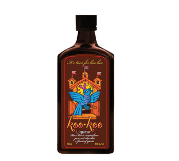 Koo-Koo Liqueur 750 ML Dark Chocolate No Cream No Gluten