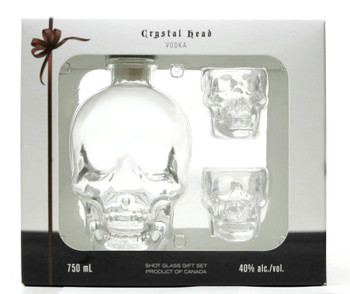 CRYSTAL HEAD GIFT SET VODKA, BY DAN AYKROYD 750ML