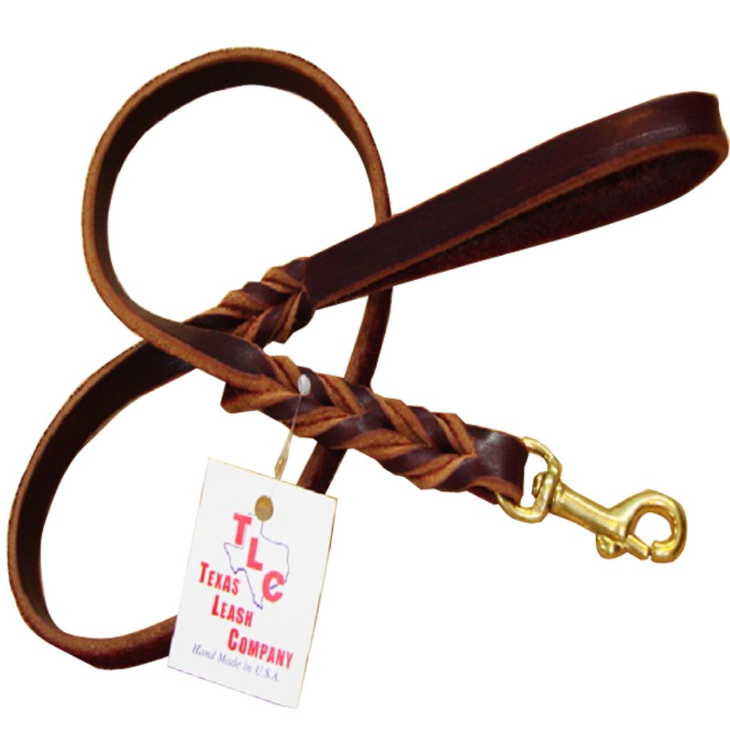 "Original Braided Leather Leash - ⅝"""