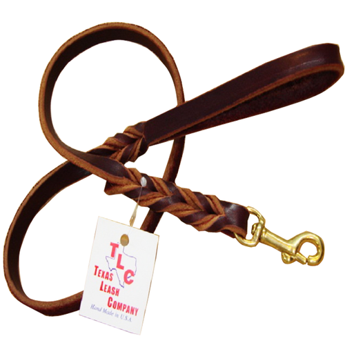 Original Braided Leather Leash - ¾""
