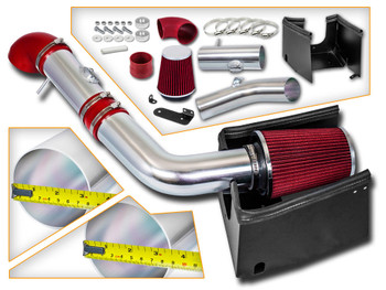 Red Cold Air Intake Kit for Ford F150 (2005-2008) with 5.4L V8 Engine