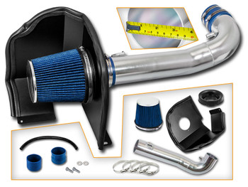 Blue Cold Air Intake System for Chevrolet Silverado 1500  (2014-2017) with 4.3L V6 Engine