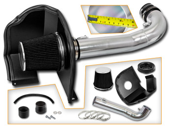 Black Cold Air Intake System for Chevrolet Silverado 1500  (2014-2017) with 4.3L V6 Engine