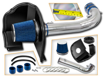 Blue Cold Air Intake Kit for Chevrolet Silverado 1500 (2014-2017) with 5.3L / 6.2L V8 Engine