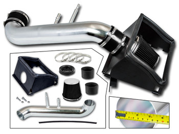 Black Cold Air Intake Kit for Ford F150 (2015-2017) with 5.0L V8 Engine
