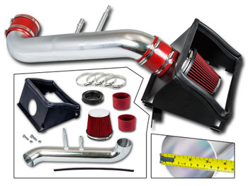 Red Cold Air Intake Kit for Ford F150 (2015-2017) with 5.0L V8 Engine